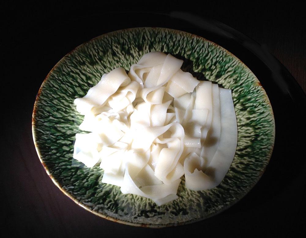 春の筍肉味噌うどん